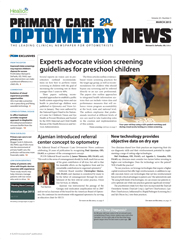 Primary Care Optometry News March 2015 cover